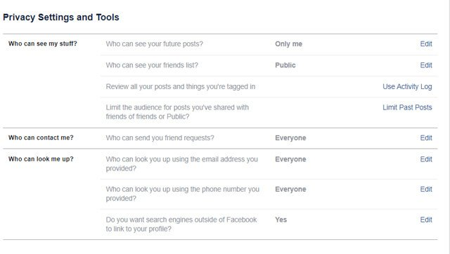 facebook privacy settings to protect your social media accounts