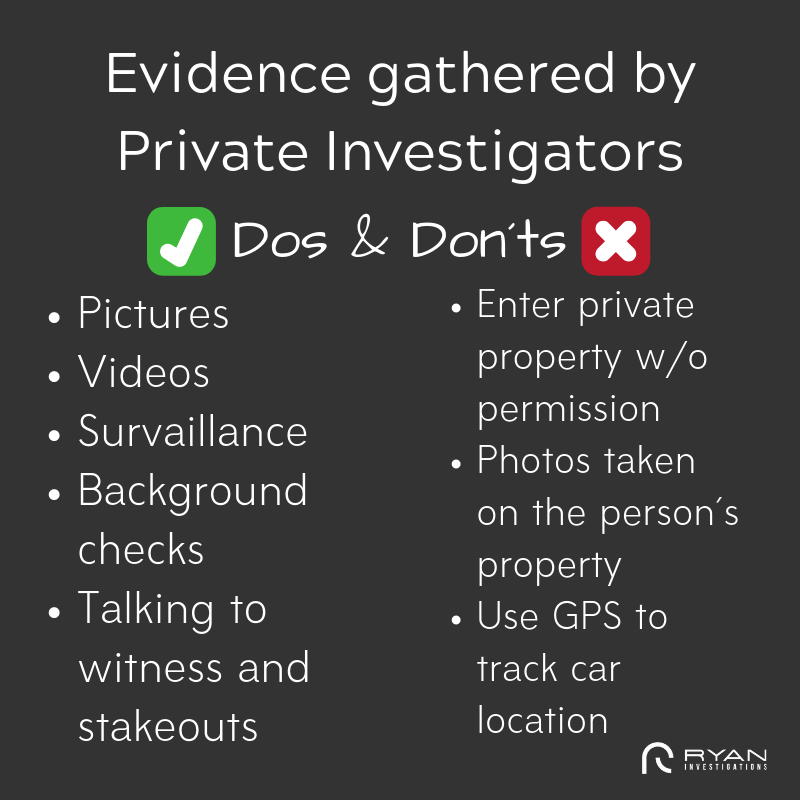 Dos and Don´ts of Gathering Evidence